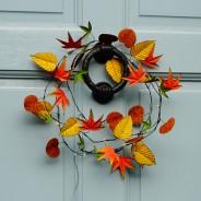 Autumn Leaves Metal Floral String Lights 2