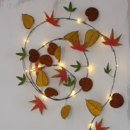 Autumn Leaves Metal Floral String 3