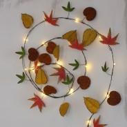 Autumn Leaves Metal Floral String Lights 3