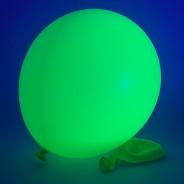 UV Neon Balloons 10 Green under UV light