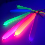 100 Neon Modelling Balloons 2