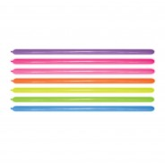 100 Neon Modelling Balloons 4