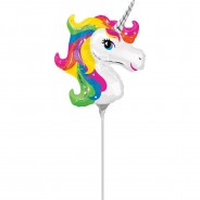 Foil Balloon on a Stick 4 Unicorn