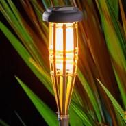 Solar Flaming Bamboo Torch x 3 2