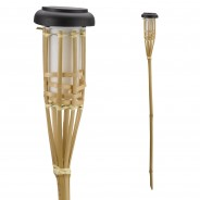 Solar Flaming Bamboo Torch x 3 5