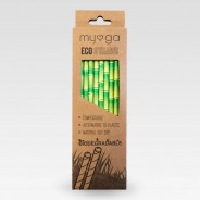 Bamboo Print Paper Eco Straws (20 pack) 1