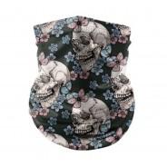 Bandana Face Mask - Multifunction 3 Pretty Skull C-8513