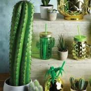 Cactus Glass Drinks Jars x 4 2