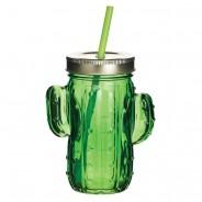 Cactus Glass Drinks Jars x 4 3