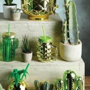 Glass Pineapple Drinks Jar x 4 1