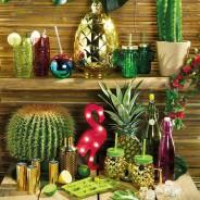 Glass Pineapple Drinks Jar x 4 4