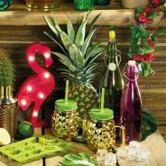 Glass Pineapple Drinks Jar x 4 2