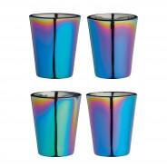 Metallic Rainbow Shot Glass Set 2