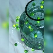 Battery Operated Teardrops Jade Light Chain 6