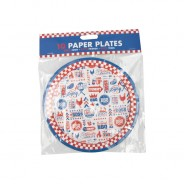 BBQ Paper Tableware 6 BBQ Paper Plates 18cm