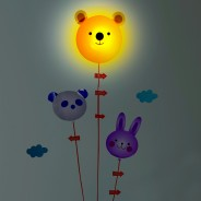 Bear & Balloon Night light with Sticker 2