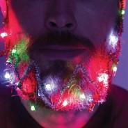 Christmas Beard Lights and Tinsel 1