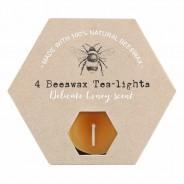 Beeswax Tealights & Dinner Candles 5 Tealight Candles