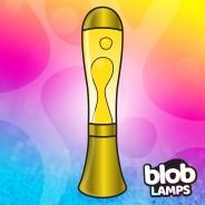 BIG BLOB Metallic Gold Lava Lamp - White/Yellow 3