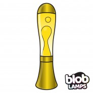BIG BLOB Metallic Gold Lava Lamp - White/Yellow 4