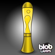 BIG BLOB Metallic Gold Lava Lamp - White/Yellow 1