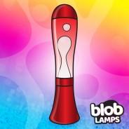 BIG BLOB Metallic Red Lava Lamp - White/Red 2