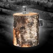 Birch Log Oil Lamp FF418 1