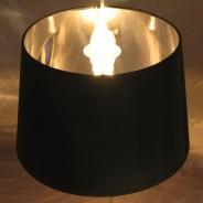 Black & Chrome Lamp Shade (17858) 2