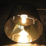 Black & Chrome Lamp Shade (17858) 3
