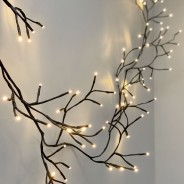 Black Climbing Ivy Twig Lights - Solar, Battery or Mains 1