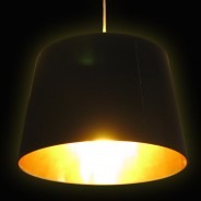 Black & Gold Lamp Shade (17859) 1