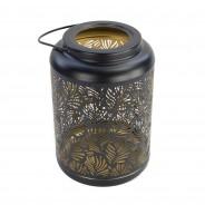 Black and Gold Solar Leaf Lantern (3897) 3