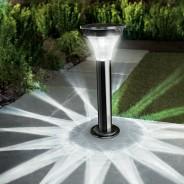 Black Nickel Motion Sensor Post Light 1