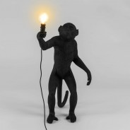 Seletti Black Outdoor Monkey Lamps 2 Standing