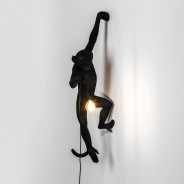 Seletti Black Outdoor Monkey Lamps 3 Hanging