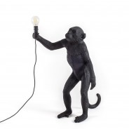 Seletti Black Outdoor Monkey Lamps 8 Standing
