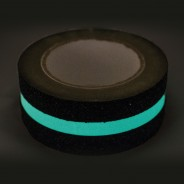 Black Safety Tape with Glow in the Dark Strip (5cm x 5m length)  2