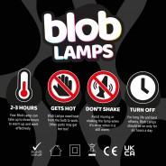 BIG BLOB Silver Glitter Lamp  6