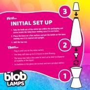 BIG BLOB Silver Glitter Lamp  5