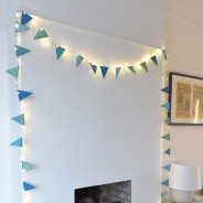 Blue Metal Bunting Fairy Lights 1