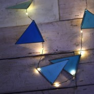 Blue Metal Bunting Fairy Lights 3