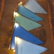 Blue Metal Bunting Fairy Lights 2