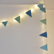 Blue Metal Bunting Fairy Lights 4
