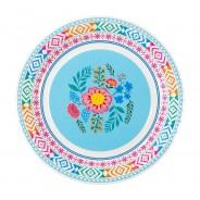 Boho Floral Paper Plates x 12 6