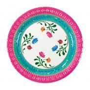 Boho Floral Paper Plates x 12 4