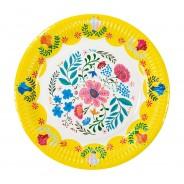 Boho Floral Paper Plates x 12 5