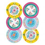 Boho Floral Paper Plates x 12 1