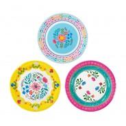 Boho Floral Paper Plates x 12 3
