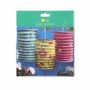 Boho Paper Lanterns x 3 7