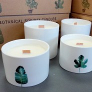 3 x Botanical Soy Candles with Wooden Wick 2